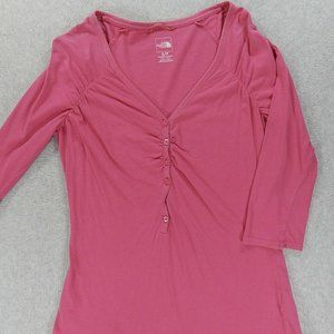 The North Face Henley Shirt (Womens Small) Pink